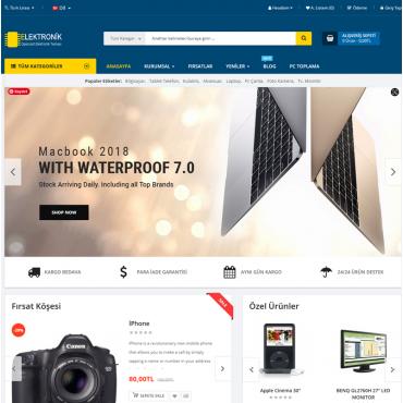 Pro Elektronik Ürünleri Opencart Satış Teması 3.x