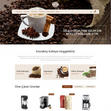 Kahve Konsept Kahve Satış Opencart  Tema
