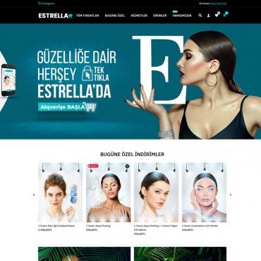 Opencart Estetik Güzellik Ürünleri Satış Teması