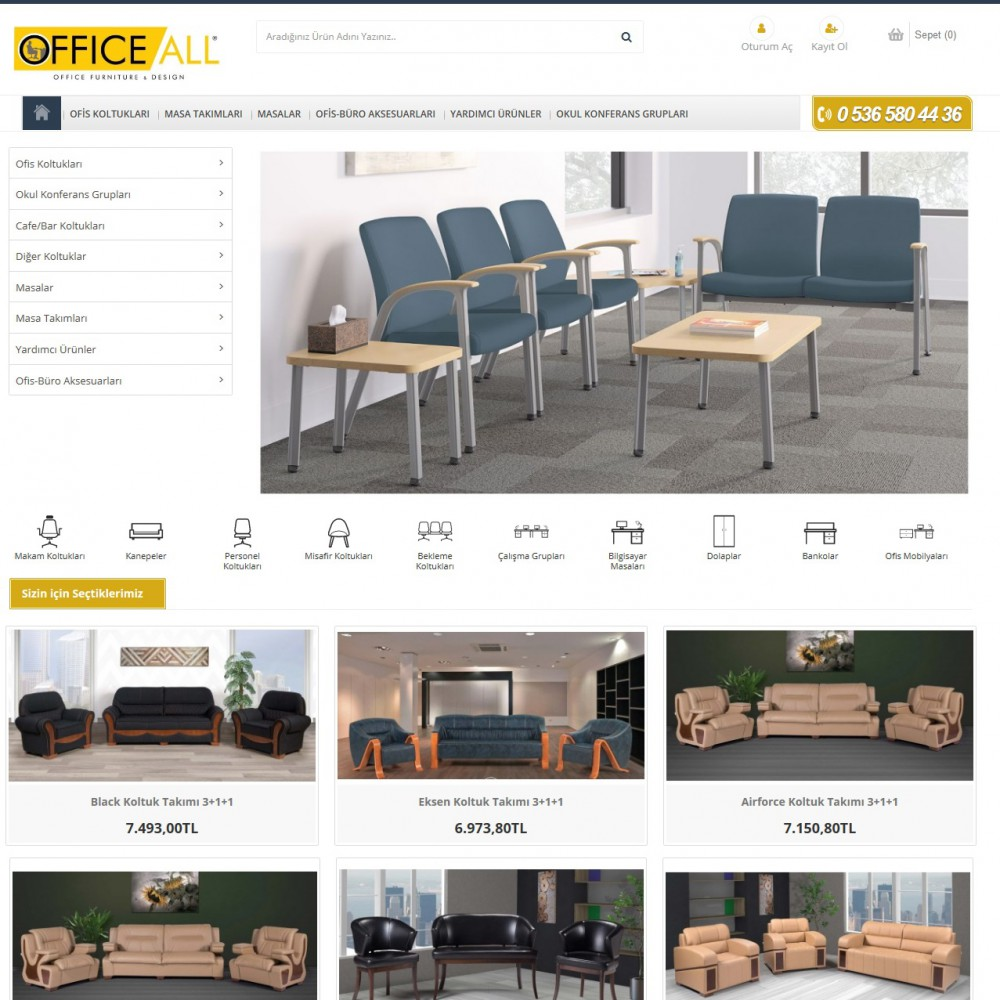 Opencart Ofis Mobilya Teması