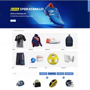 Opencart Spor Ürünleri,Giyim Mağaza Site Teması