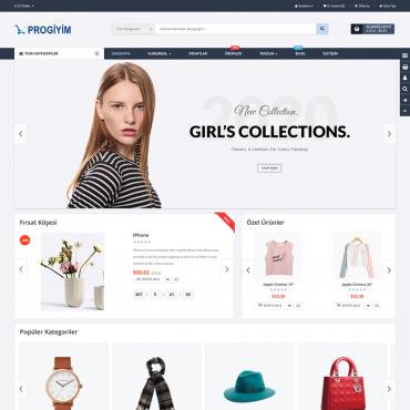 Butik Moda Giyim Site Teması Opencart  3.x