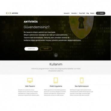 Bilişimci teması sarı siyah konsept