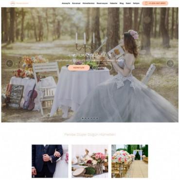 Pembe düşler düğün salon teması