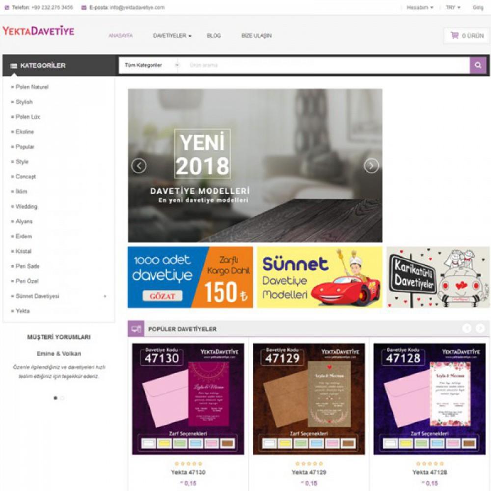 Wordpress Davetiye Tasarımı